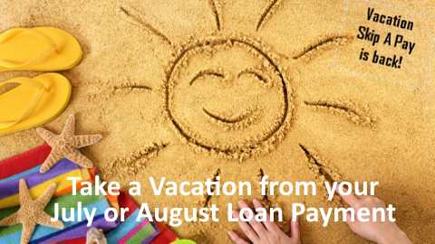 Read more about how you can skip a June or July loan payment.