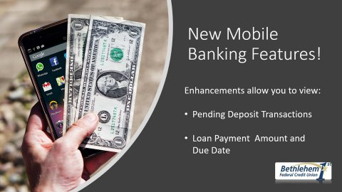 We've added two new features to our Mobile Banking app. Read more...