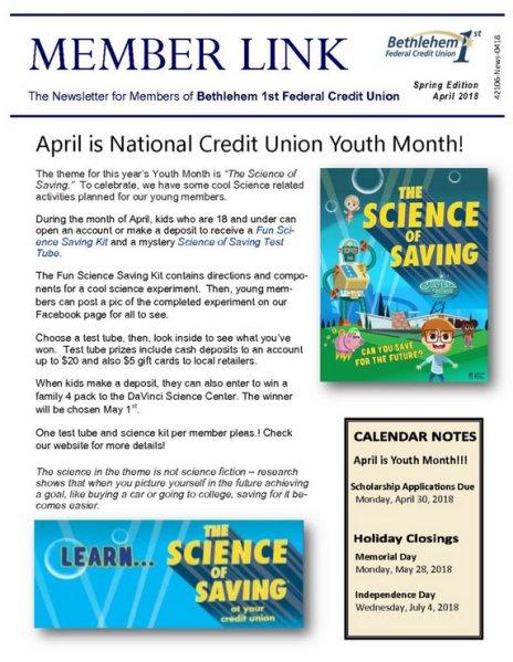 April, 2018, Member Link Newsletter
