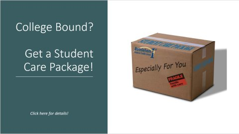 College Bound? Read more about our Student Care Package!