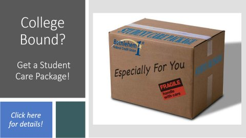 College bound? Remember our Student Care Package...