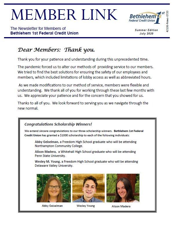 July 2020 Member Newsletter Thumbnail