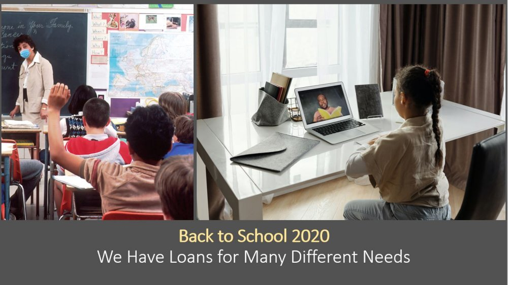 We have Back to school loans to meet your needs!