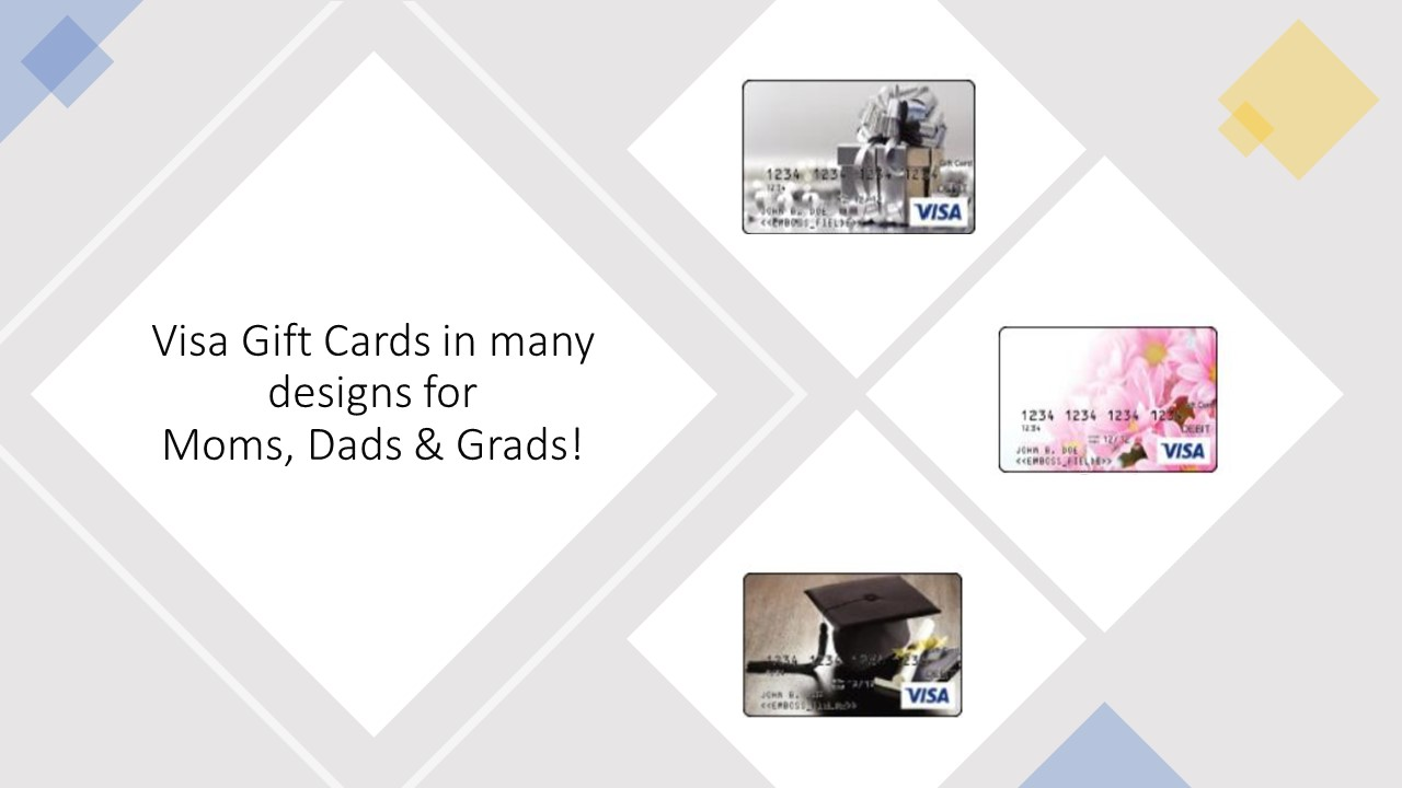 Visa Gift Cards in great designs!